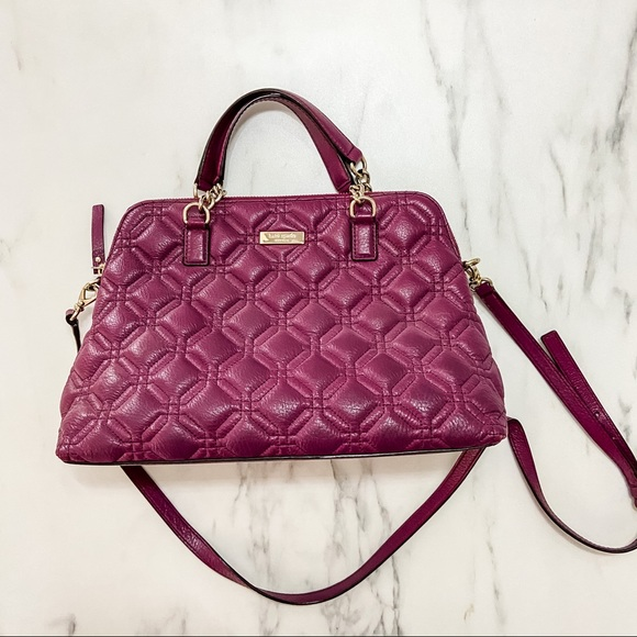 Kate Spade Plum Quilted Convertible Crossbody